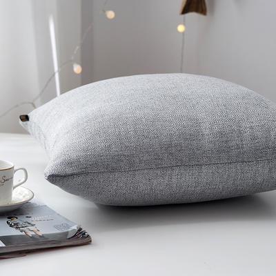2019新款-回字尼抱枕ok 40*40cm皮子 深灰色