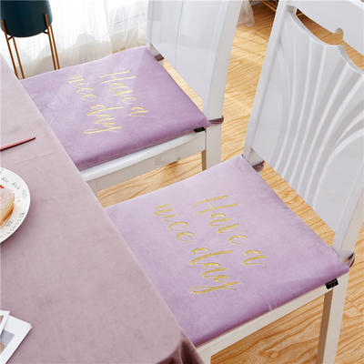 2019新款-金线刺绣天鹅绒坐垫ok 40X40cm 亮紫色
