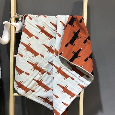 2017 新款儿童套巾 四层聪明的狐狸-橙(25cm×50cm)