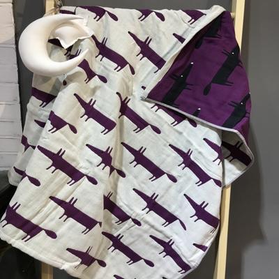 2017 新款儿童套巾 四层聪明的狐狸-紫(25cm×50cm)