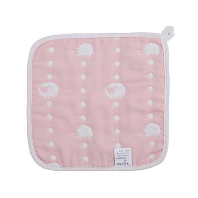 2017 新款儿童方巾 六层刺猬方巾-粉(25cm×25cm)