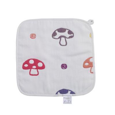 2017 新款儿童方巾 六层蘑菇方巾(25cm×25cm)