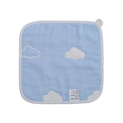 2017 新款儿童方巾 六层云朵方巾-蓝(25cm×25cm)