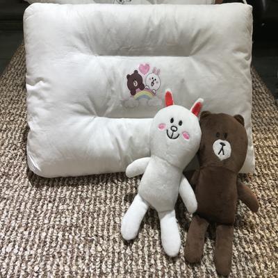 2017 新款小猪佩琪枕头 布朗熊与可妮兔(30cm×50cm)