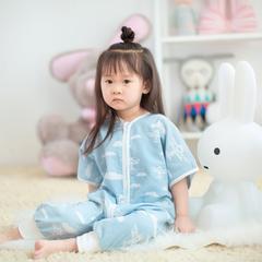 2017 新儿童爬爬服 2层蓝飞机短袖爬服(70cm)