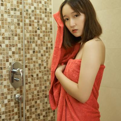 珊瑚绒套巾(毛巾35*75 浴巾70*140) 玫红
