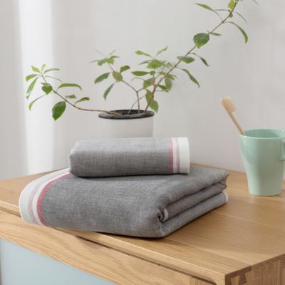 2018新款-条纹系列毛巾浴巾 MJ-深灰毛巾35*75