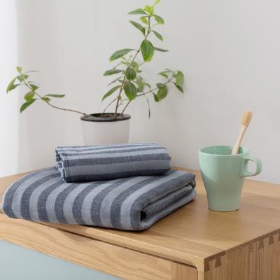 2018新款-条纹系列毛巾浴巾 MJ条纹-藏蓝毛巾35*75