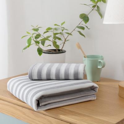 2018新款-条纹系列毛巾浴巾 MJ条纹-灰毛巾35*75