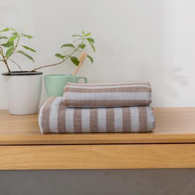 2018新款-条纹系列毛巾浴巾 MJ条纹-咖毛巾35*75