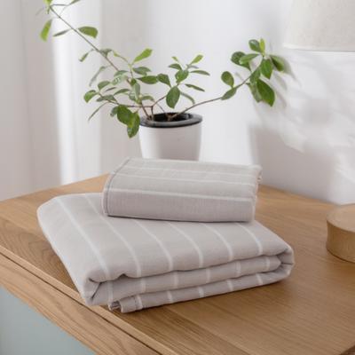 2018新款-条纹系列毛巾浴巾 MJ细条纹-灰毛巾35*75
