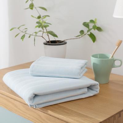 2018新款-条纹系列毛巾浴巾 MJ细条纹-浅蓝毛巾35*75