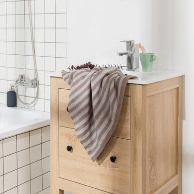 2018新款-条纹系列毛巾浴巾 MJ条纹-咖浴巾70*140/450克