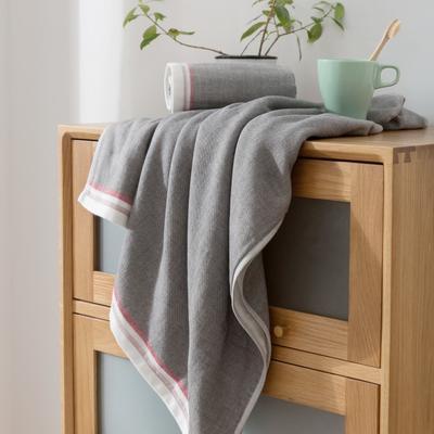 2018新款-条纹系列毛巾浴巾 MJ-深灰浴巾70*140/500克