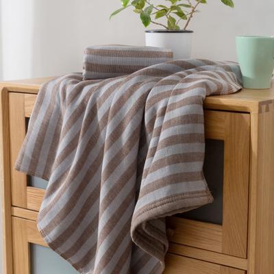 2018新款-条纹系列毛巾浴巾 MJ条纹-咖浴巾70*140/500克