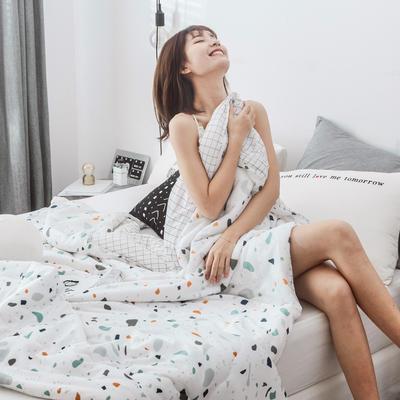 2019新品-冰凉丝夏被 150x200cm 彩色肌理纹
