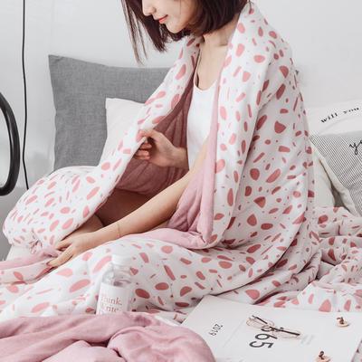 2019新品-冰凉丝夏被 150x200cm 粉肌理纹