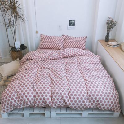 2019新款-牛奶棉四件套 床单款1.5m(5英尺)床 太阳粉
