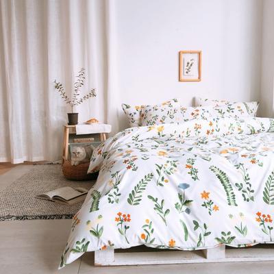 2019新款-牛奶棉四件套 床单款1.8m(6英尺)床 幸运草