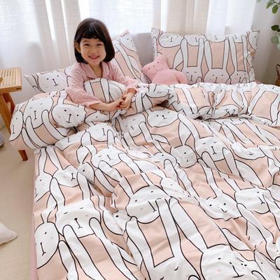2019新款-牛奶棉四件套 床单款1.8m(6英尺)床 长耳兔