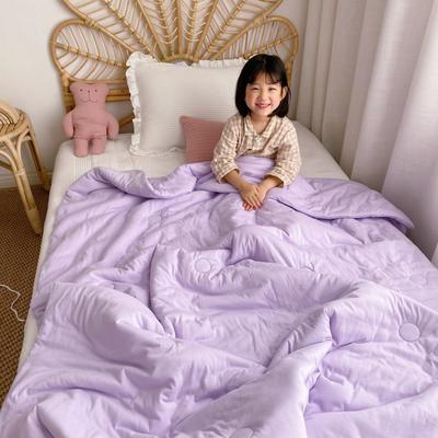 2019新款-有机棉花糖果色童被 120x150cm3.6斤 紫色