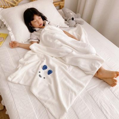 2020新款-卡通浴巾70*140cm 白