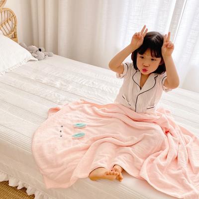 2020新款-卡通浴巾70*140cm 粉