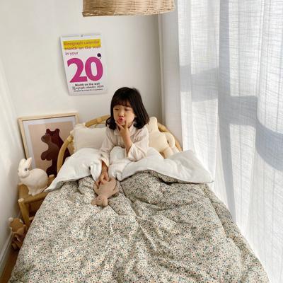 2020新款-韩国订单被(反面纱布款) 单夏被120x150cm 幸福花2号