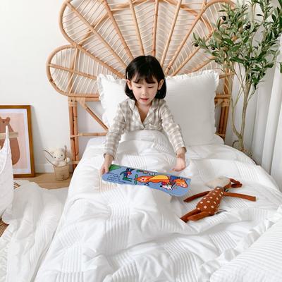 2020新款-韩国雪纺夏被三件套 150x200cm两件套 白色