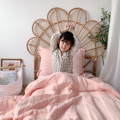 2020新款-韩国雪纺夏被三件套 150x200cm两件套 粉色