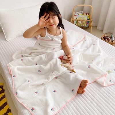 2020新款-棉花糖刺绣童被 120*150含棉芯 粉樱桃