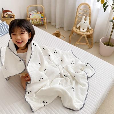2020新款-棉花糖刺绣童被 120*150含棉芯 可爱熊