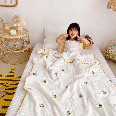 2020新款-棉花糖刺绣童被 120*150含棉芯 笑脸