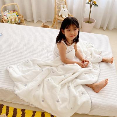 2020新款-棉花糖刺绣童被 120*150含棉芯 星月