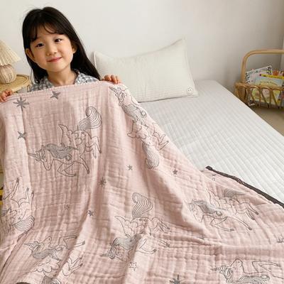 2020新款-童趣浴巾(70*140cm) 独角兽-粉