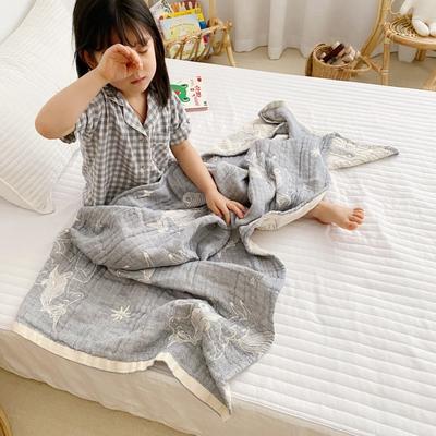 2020新款-童趣浴巾(70*140cm) 独角兽-灰