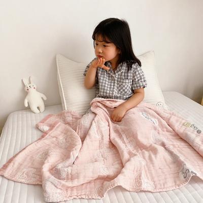 2020新款-童趣浴巾(70*140cm) 开心鸭-粉