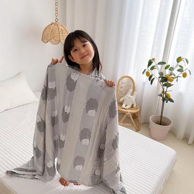 2020新款-童趣浴巾(70*140cm) 肖恩羊-灰