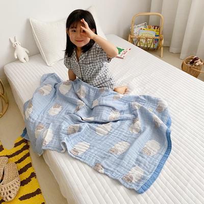 2020新款-童趣浴巾(70*140cm) 肖恩羊-蓝