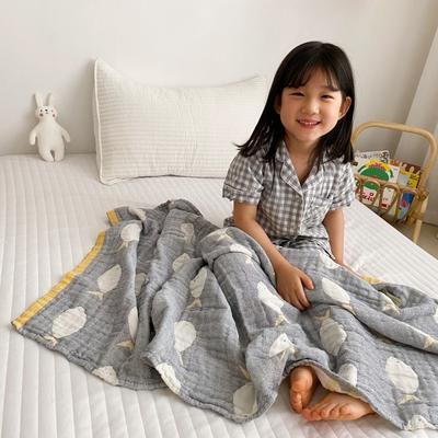 2020新款-童趣浴巾(70*140cm) 鱼多多-灰