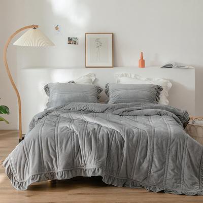 2020新款-韩国绒三件套 1.2m床单款三件套 灰色