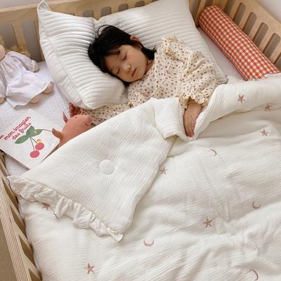 2020新款-韩国棉花糖花边刺绣被被子被芯 120x150cm6斤 星月白
