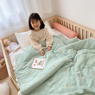 2020新款-韩国棉花糖花边刺绣被被子被芯 120x150cm6斤 星月绿