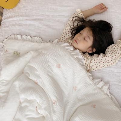 2020新款-韩国棉花糖花边刺绣被被子被芯 120x150cm6斤 樱桃白