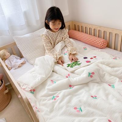 2020新款-韩国棉花糖花边刺绣被被子被芯 120x150cm6斤 樱桃红