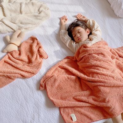 2020新款-泰迪绒纯色套巾毛巾浴巾 粉色