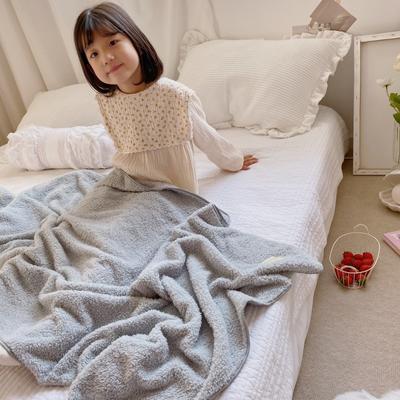 2020新款-泰迪绒纯色套巾毛巾浴巾 灰色