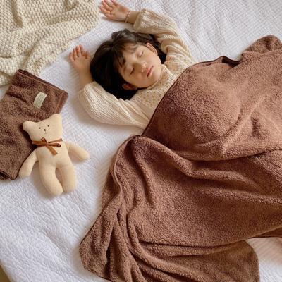 2020新款-泰迪绒纯色套巾毛巾浴巾 咖色