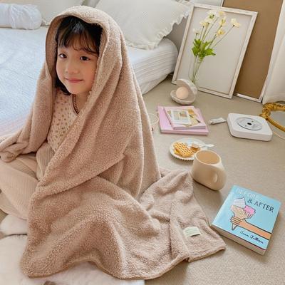 2020新款-泰迪绒纯色套巾毛巾浴巾 米色