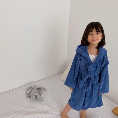 2020新款-浴袍 适合身高170cm以下 藏蓝